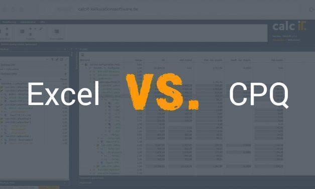 Excel vs. CPQ – darum sollten Sie Excel-Lösungen durch eine CPQ-Software ersetzen