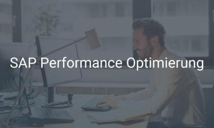 SAP Performance Optimierung für ein schnelles und jederzeit verfügbares SAP-System