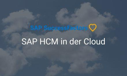 SAP SuccessFactors – SAP HCM in der Cloud