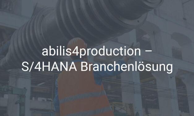 S/4HANA Branchenlösung für den Maschinen- und Anlagenbau & die Fertigungsindustrie