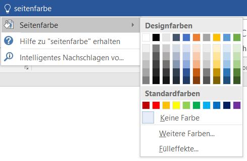Microsoft Word Tipps Seitenfarbe ändern