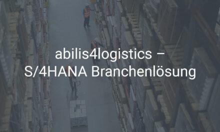 S/4HANA Branchenlösung für die Logistik